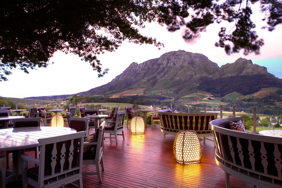 SA Winelands restaurant has been listed as one of the world's best places to dine with a view